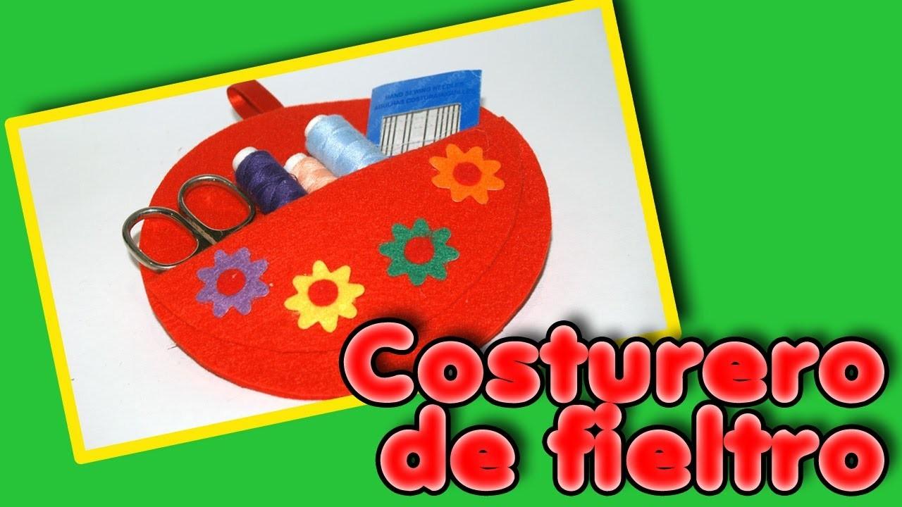 Costurero de Fieltro - Día de las Madres DIY