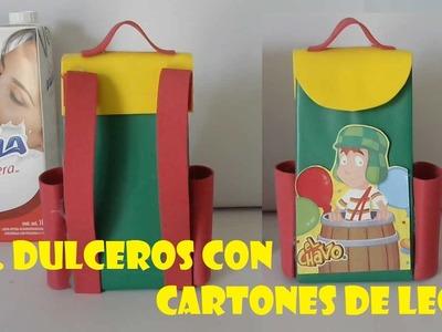DIY.COMO HACER DULCERO DEL CHAVO DEL OCHO CON CARTONES DE LECHE