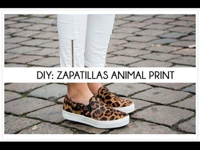 DIY customiza unas zapatillas animal print