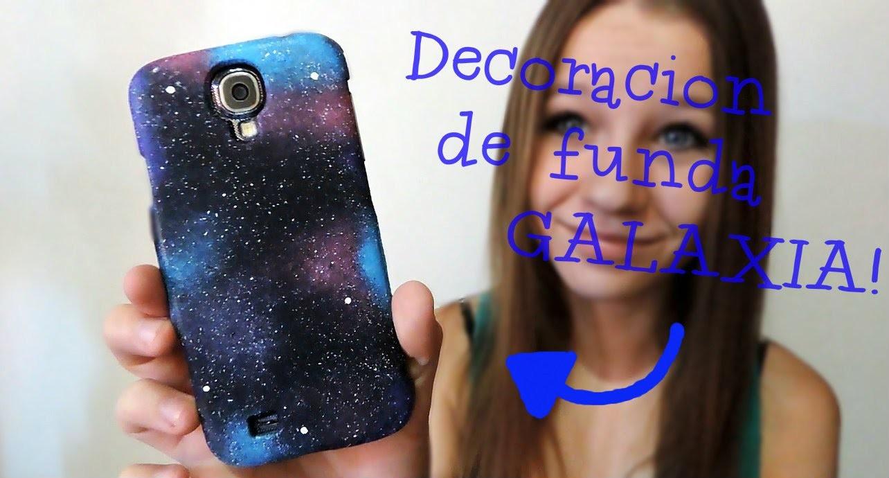 DIY - Decoración de funda galáctica - Galaxia