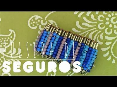 DIY pulsera con seguros♥ | Rossanetv