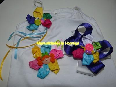 Flores en cinta para decorar  moños lazos diademas ganchosprendas de vestir paso a paso no. 344