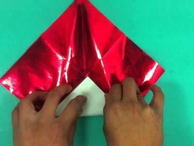 Gorro de Santa Claus de origami - Sombrero de Papá Noel