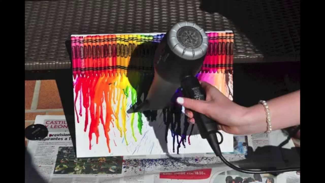 HOW TO: Melted Crayon Art (DIY) En Español