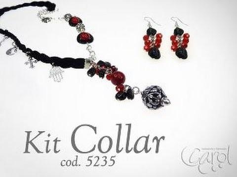 KIT 5235 Kit collar ac y fossil rojo x und