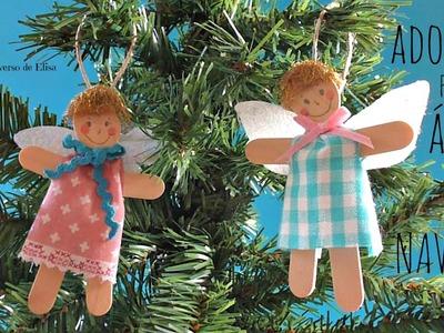 Manualidades para Navidad, Ángel de Palitos de Helado, Manualidades con Niños