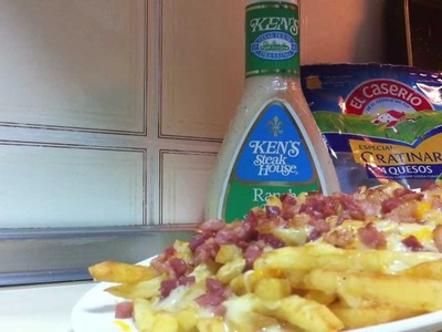 Patatas fritas estilo Foster´s Hollywood - Bacon cheese fries del Foster´s Hollywood