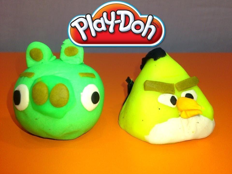 PLAY-DOH ANGRY BIRDS.COMO HACER ANGRY BIRDS CON PLASTILINA.