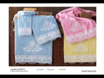 Punto de cruz con toallas, baberos,capas de baño y más, Creart Osona