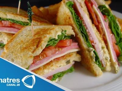 Receta Club Sándwich. Cómo preparar un club sándwich