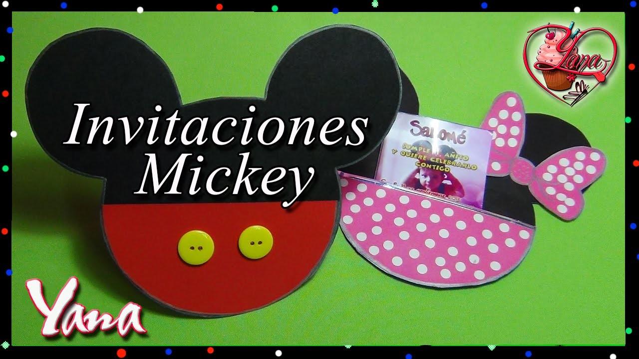 Tarjeta Invitación Mickey Mouse Yana