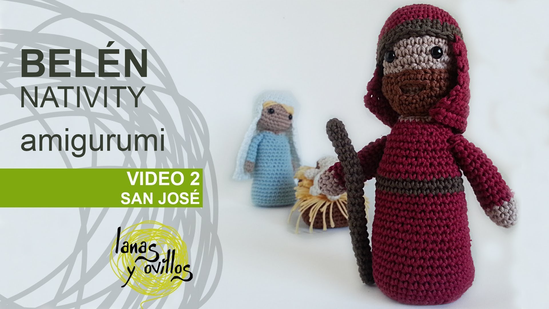 Tutorial Belén Amigurumi Part 2: San José (Nativity English Subtitles)
