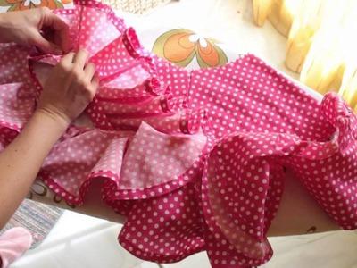 Tutorial - Vestido de flamenca estilo Marisol 5.5 - Volantes