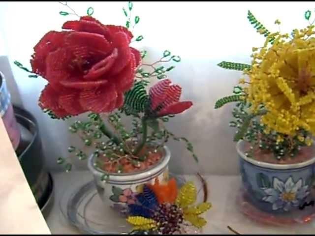 Un recorrido por  flores de chaquira.