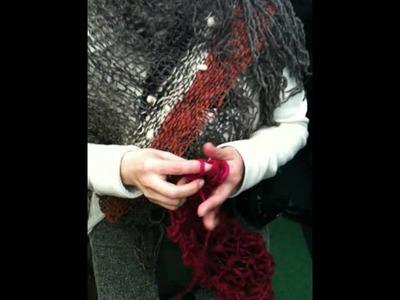 Bufanda tejida con los dedos
