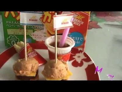 Comida miniatura, Hamburguesa de Mía