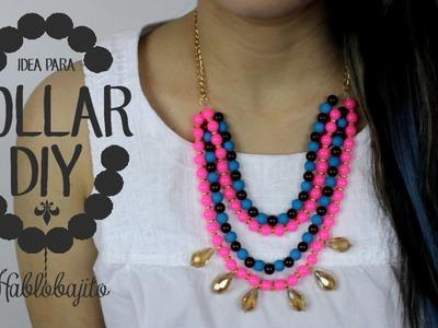 Cómo hacer un collar DIY. Collar de Moda - Hablobajito