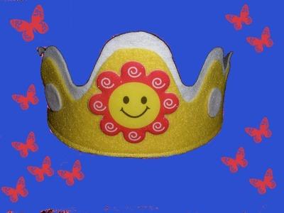 Como hacer una corona de princesas, princess crown DIY.