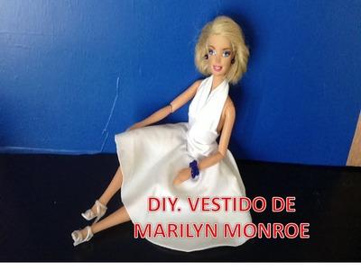 COMO HACER VESTIDO DE MARILYN MONROE PARA MUÑECAS BARBIE