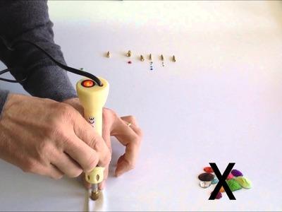 Como utilizar el aplicador de strass con distintos materiales.