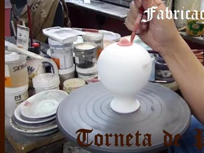 Curso de Cerámica - Pintar Piezas de Cerámica con Torneta de Pie