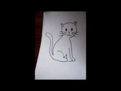 =^^= dibujo para principiantes-el gato mas facil