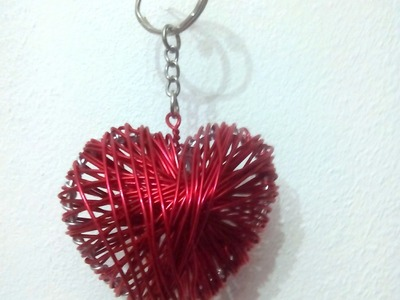 DIY Idea REGALO San Valentin - Llavero CORAZON alambre