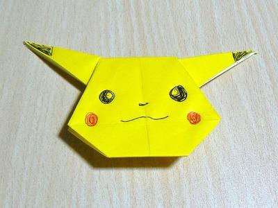 El arte de doblar papel. Pikachu
