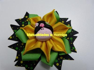 Florecitas faciles en cinta para decorar  accesorios para el cabello de las niñas.