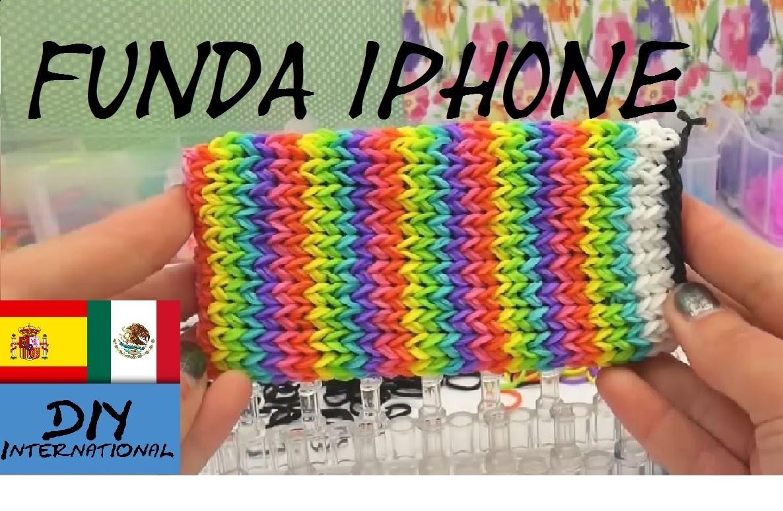 FUNDA DE GOMITAS PARA CELULAR - IPHONE - CON TELAR - TURORIAL EN ESPAÑOL - DIY