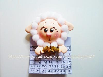 MANUALIDADES FACILES Borreguitos Calendario -  porcelana fria porcelanicron