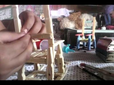 Mesedora con pinzas de madera-manualidades parte 3
