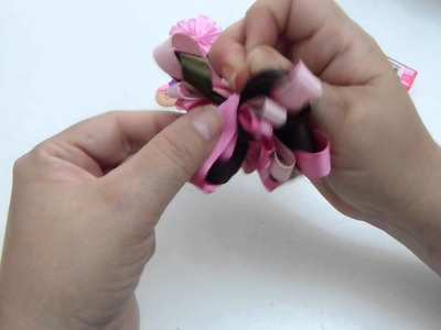 Moños y flores en cinta para elaborar accesorios para el cabello video  268