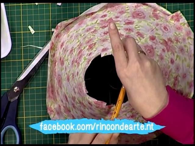Pantalla para lampara de velador con tela -2da parte