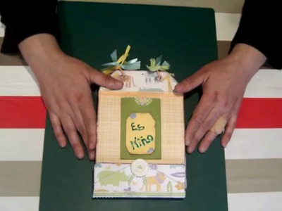 Sscrapbook ideas: album de fotos para bebé ( baby boy minialbum ).