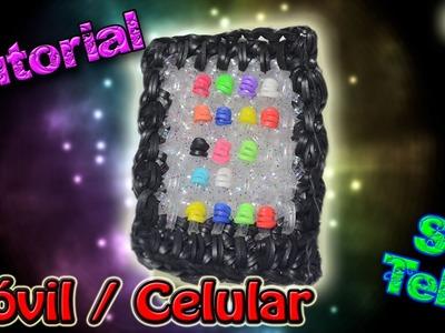 ♥ Tutorial: Teléfono Móvil o Celular de gomitas (sin telar) ♥