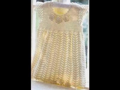 Vestido Bebé Fácil tejido a Crochet