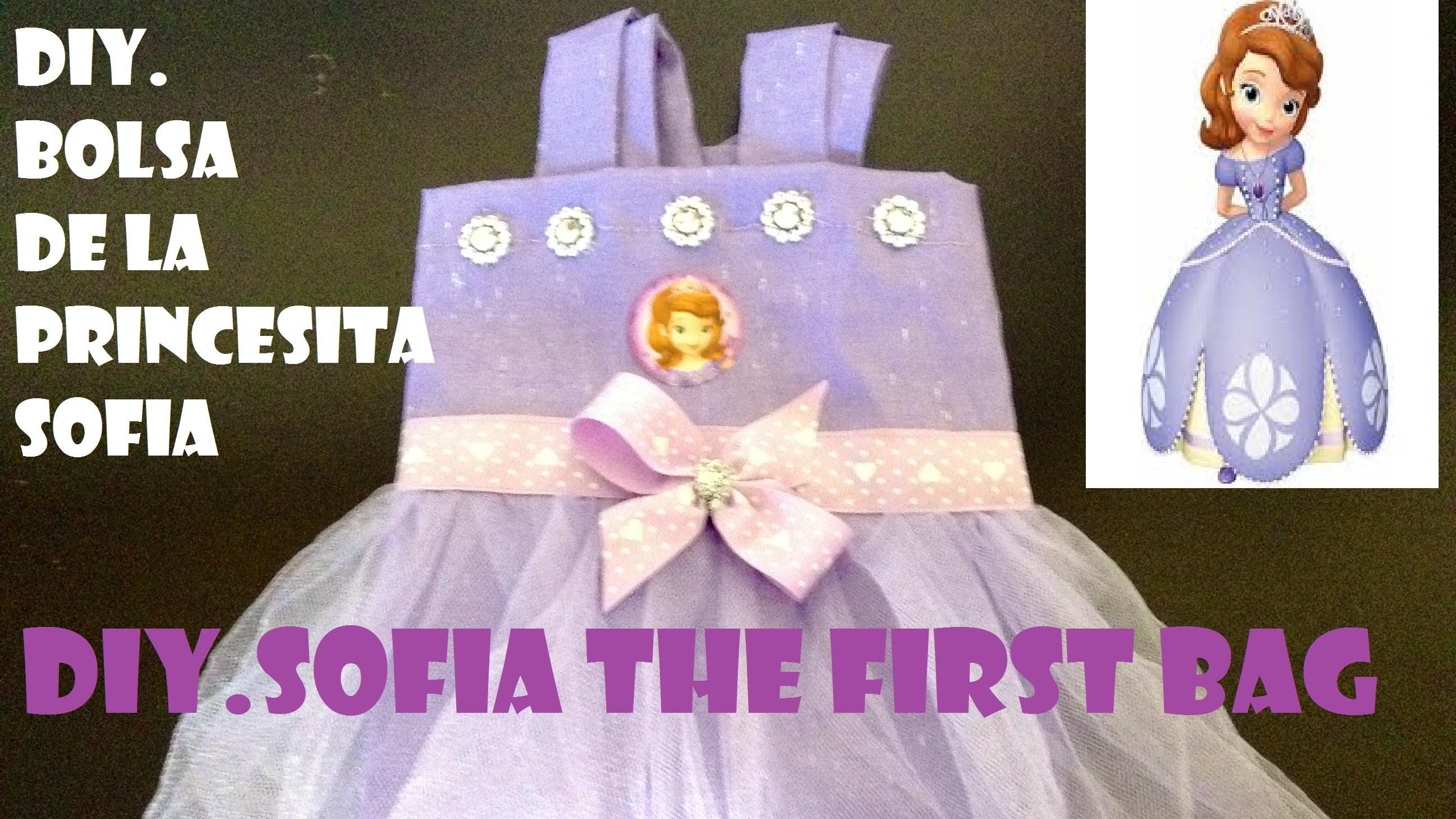 COMO HACER BOLSA TUTU DE PRINCESITA SOFIA. SOFIA THE FIRT PARTY BAG
