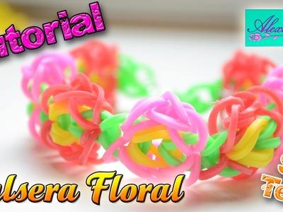 ♥ Tutorial: Pulsera Floral de gomitas (sin telar) ♥