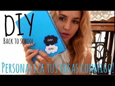 DIY agenda escolar, libreta y clips (separadores) bajo la misma estrella BACK TO SCHOOL♥