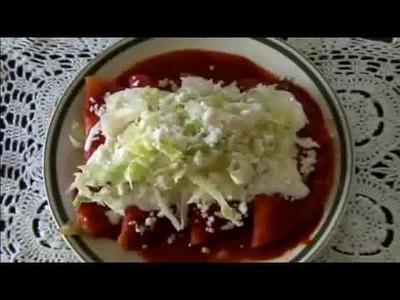Enchiladas de Guajillo con Pollo * video 46 *