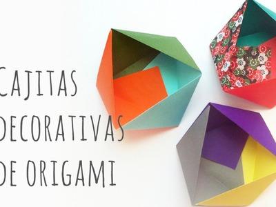Cajas de papel. Origami fácil