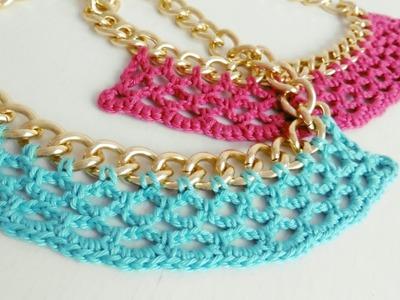 Collar Tejido a Crochet - Paso a Paso