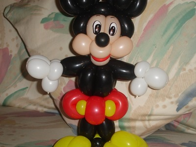 COMO HACER A MICKEY MOUSE (EN UN SOLO TUTORIAL). HOW TO MAKE A MICKEY MOUSE BALLOON.