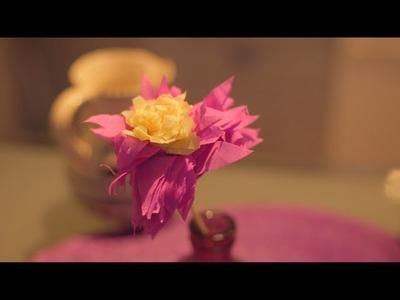 Cómo hacer flores de papel crepé   @iMujerHogar
