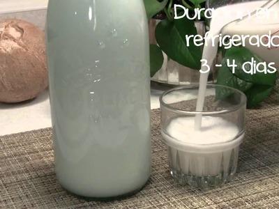 Como hacer leche de Coco en casa