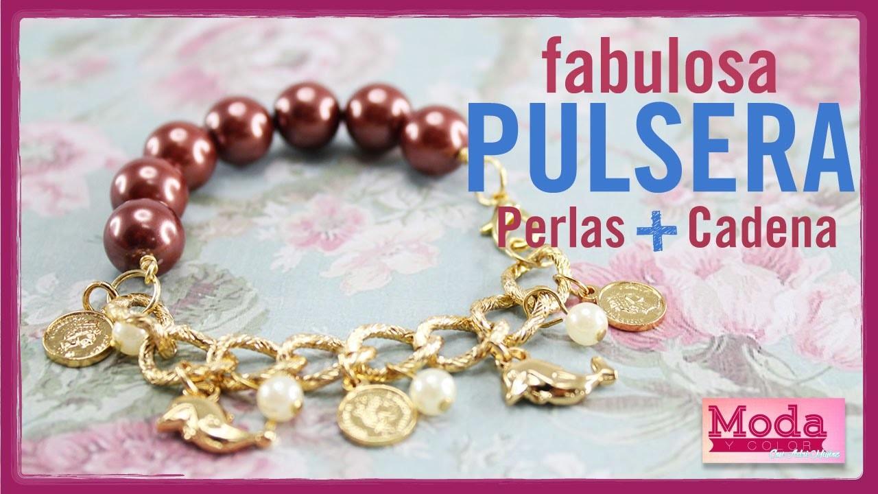 Como hacer pulsera perla dijes con Adri Muñoz Kit 23183