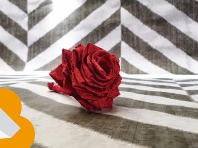 Cómo hacer rosas con tiras de papel