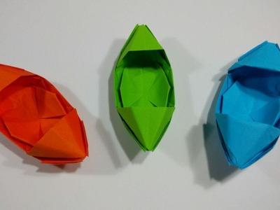 Como hacer un barco de origami sencillo