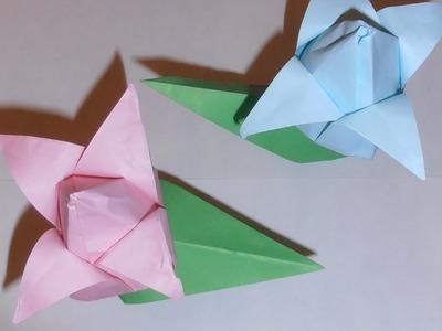 Cómo hacer un tulipan con papel